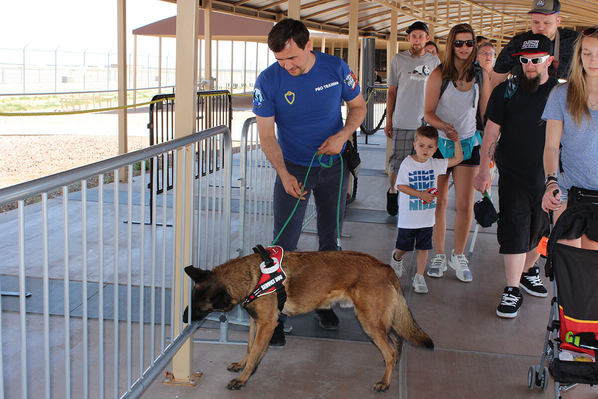 Drug detection dogs - Places of Work